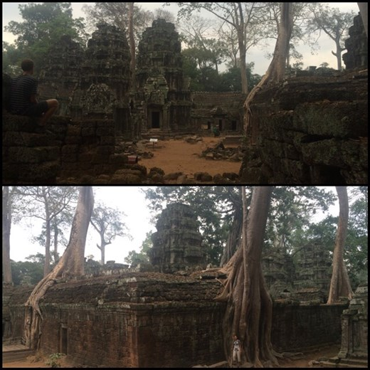 First ones in line for the Ta Prohm