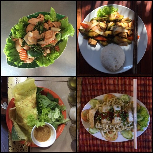 Sample of the many meals we had in Cambodia. Good, but not as good as Thailand!