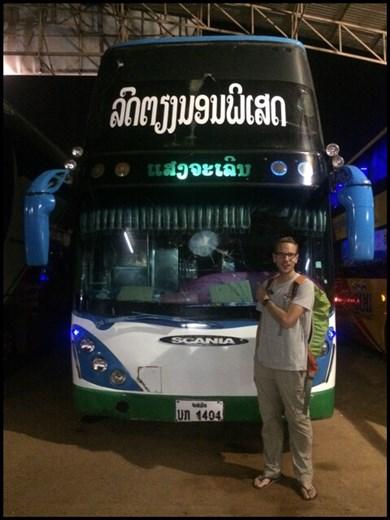 Voilà notre bus de nuit VIP de 12h que nous avons pris de Vientiane à Paksé... Nous sommes arrivés sains et saufs!!! ;-)