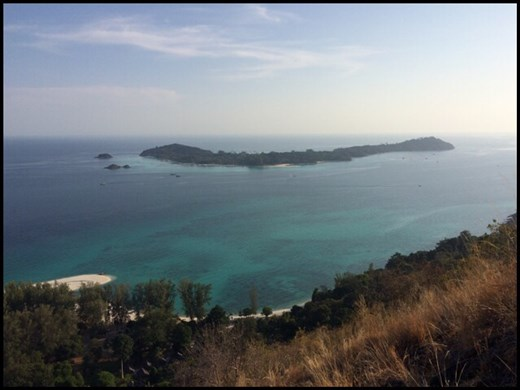 View of neighboring island Koh Lipe. NOOOOT part of the national park thus swarming with boats and crowded with hotels.