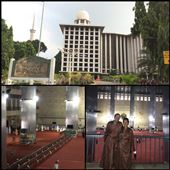 Istiqlal Mosque, or Masjid Istiqlal, (Independence Mosque) in Jakarta, Indonesia is the largest mosque in Southeast Asia. This national mosque of Indonesia was built to commemorate Indonesian independence and named