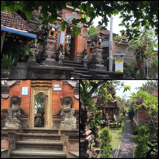 Ubud, a town in central Bali, is far removed from the beach party scene in Kuta, and is regarded as the cultural centre of Bali. It is famous as an arts and crafts hub, and much of the town and nearby villages seems to consist of artists' workshops and galleries.