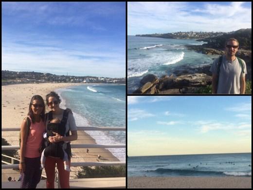 Promenade avec Carole et sa petite Mila le long des plages de Sydney dont la fameuse plage de Bondi. Nous avons eu beaucoup de chance avec le beau temps à ce qui paraît pour cette période de l'année. :-)