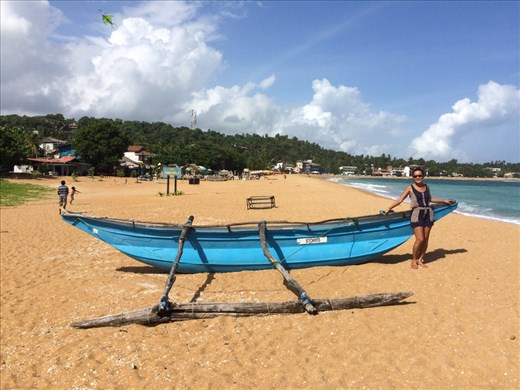 Beach time in Unawatuna.