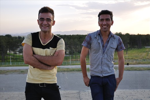 A number of people I meet in Iran are students, studying their first degree or subsequent degree in university.   I met two of them in Persepolis. While our conversation was limited to basic English, the feeling exchanged was one of warmth, fun and innocence. They suggested a photograph, which I happily obliged. From the LCD screen, I saw their solemn pose.   'This is not them,' I thought to myself. I showed them the photo, told them to smile. Before they could pose again, I clicked my camera. 'Not ready,' one of them exclaimed. 'More natural,' I responded and showed them the photo. A happy moment immortalized.