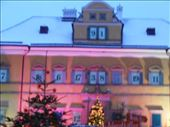 During the Christmas season they cover the windows of the palace with shades like an advent calendar. Each window has a day and as they count down another green shade covers the window so it is blank.: by firegrl, Views[248]