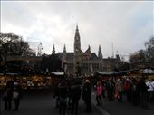 Rathaus and the largest Christmas market in Austria!!!  Rathaus is City Hall (even though it looks like a church): by firegrl, Views[113]