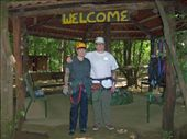 Here we are all suited up to ride the zipline over the jungle canopy.  Scariest thing I've ever done, but also the most amazing.: by fishpaw, Views[191]