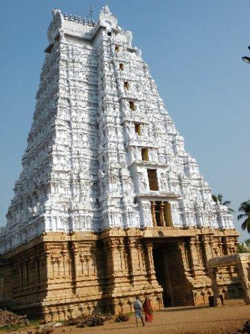 Trichy. Gopura (torre) principal del Templo Sri Ranganathaswamy (Templo a Vishnu)
