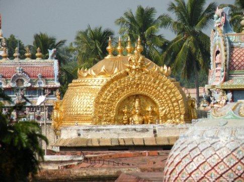 Trichy. Cúpula de oro del Templo Sri Ranganathaswamy (Templo a Vishnu)