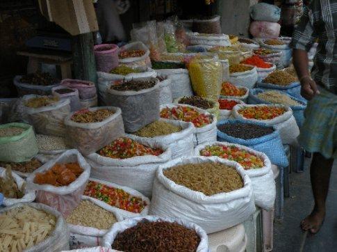 Mercado de Pondicherry (variedad de fideos)