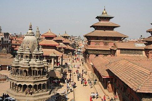 Patan Vista aerea de Durbar Square en Patan (Durbar significa Palacio, con lo cual hay mas de una plaza con el mismo nombre en distintas ciudades)