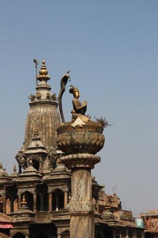 Patan Cupulas de templos hindues en Durbar Square