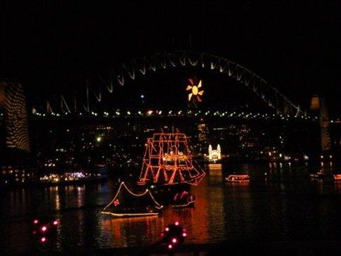Puente Sydney Harbour, la noche de Año Nuevo