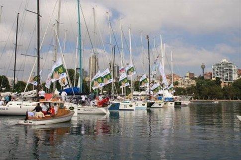 Cruising Yacht Club of Australia. Barcos que participan de la regata Sydney Hobart