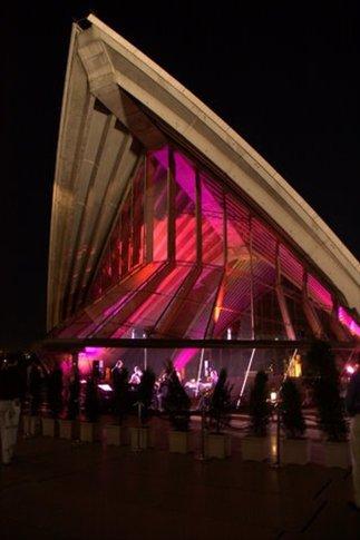 Opera House iluminada de noche