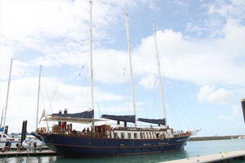 Whitsunday Magic, barco con el que fuimos hasta la Barrera de Coral