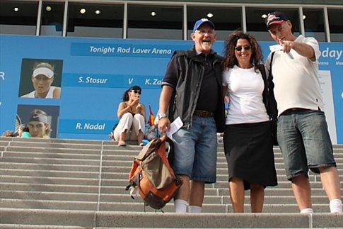 Don, Uluru y Alan (amigo de Don) en el Australian Open de Melbourne