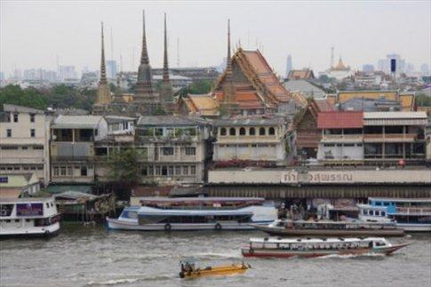 Vista de Bangkok desde la cima de Wat Arun