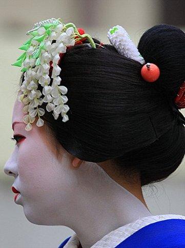 Geisha (fíjense el detalle del maquillaje del cuello)