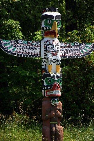 Totem poles en Stanley Park