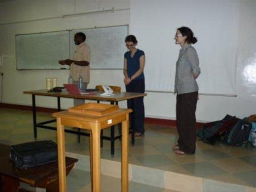 Professor Kaswala officially closing the course