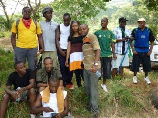 Fellow trekkers up Bondwa training to climb Kilimanjaro in May