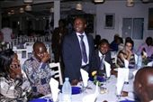 Prof. Serge Bakou, the Afrique One ambassador at EISMV (Ecole inter-etats de sciences et medicin veterinares, or someat like that) welcoming everyone  at a rather posh dinner on the first evening of the course: by flavie_sunny, Views[574]
