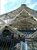 Patti took this picture from 1 level down from the girls at the Eiffel Tower.: by florida_family, Views[232]