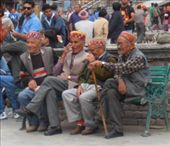 Local men sitting about in the square, Manali: by flyingpiglet, Views[269]