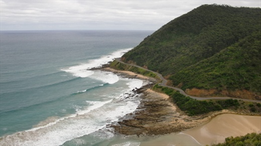 Yeah I'm proud to call this view my own. There's the Great Ocean Road below, heading west.