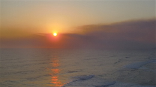 Sunset over the Southern Ocean.