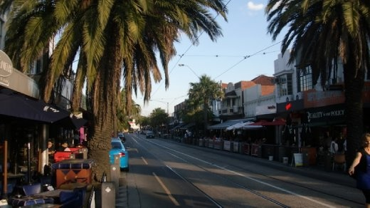 Acland Street, the hub of St. Kilda, and full of great cafes, bookstores, chocolate shops, ice cream, outdoor patios and an international beer import store that had St. Ambroise on their shelf.