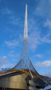 The Arts Centre Spire, focal point of the Victorian Arts Centre. I saw pictures of this for years and never understood what it was for. It must be a radio/TV tower, right? Does it have an observation deck somehow? Nope, it's simply one very large piece of art. The spire is for decoration only, and meant to evoke both the Eiffel Tower and a ballerina's tutu. It is one of Melbourne's most recognisable landmarks, and I guess served an obvious purpose for locals all along.: by flyted, Views[678]