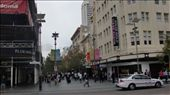 The Hay Street Mall off of William St, in the heart of the CBD. Hay Street and parallel Murray Street are both blocked off to traffic and buses, leaving a huge area two blocks wide and three blocks long completely pedestrianised, right in the heart of Perth.: by flyted, Views[938]