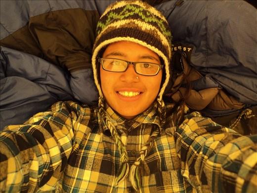 Selfie in the camp