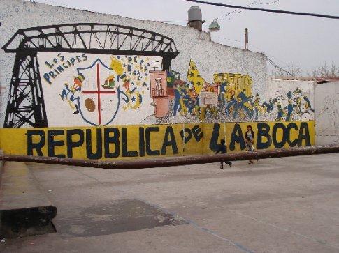 La Boca basketball court.  Buenos Aires, Argentina