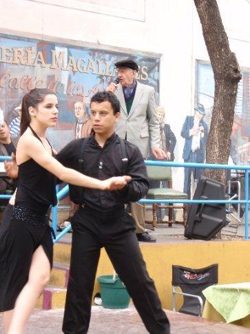 Tango in the streets!   La Boca.  Buenos Aires, Argentina
