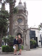Jen and I posing in front of a pretty grave/tomb in Recoleta Cemetery... kind of morbid.  Recoleta Cemetary.  Buenos Aires, Argentina.: by forgettable_blue, Views[182]