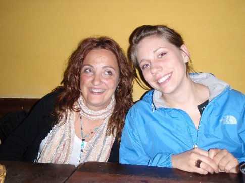 Jen and our new Spanish friend (Ima??)  Salta, Argentina