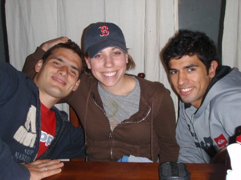 Jen, Marcelo, and Kevin - two of the soccer players.