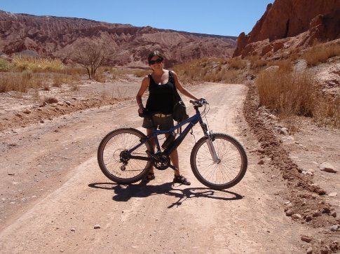 Who knew I could ride a bike after 10 years.  Okay, it was a pretty sorry attempt.  San Pedro de Atacama, Chile.