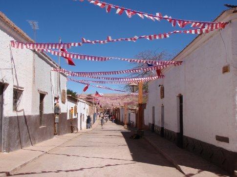 National Pride.  The streets of San Pedro de Atacama, Peru.