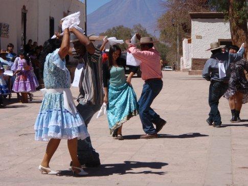 Dancing in the street.  Why not?  San Pedro de Atacama, Chile.
