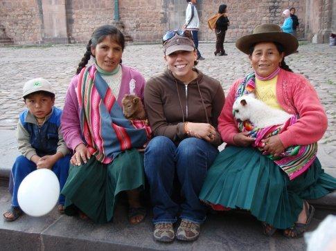 Jen almost peed her pants in excitement.  Cusco, Peru.