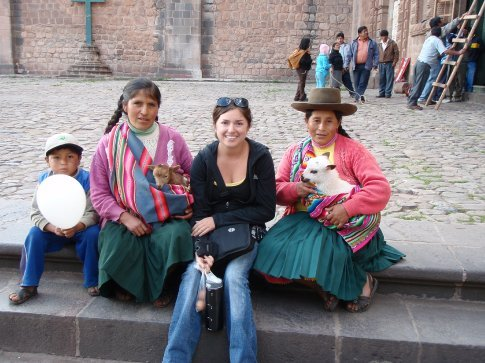 Such a sucker for touristy photos with animals.  Cusco, Peru.