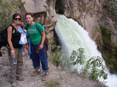 Random waterfall on the road to Agua Caliente.  Peru.