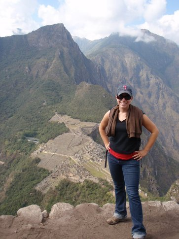 Jen´s a champion.  Machu Picchu, Peru.