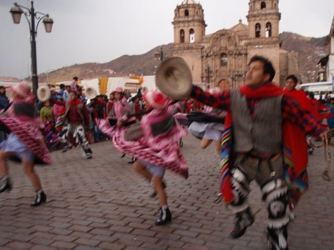Dancing in the streets. Cusco, Peru
