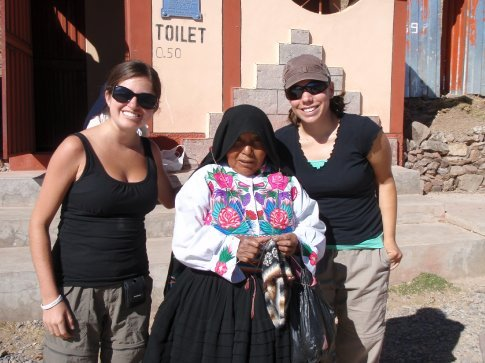 Jen and I with our Peruvian host mother, Deonesea